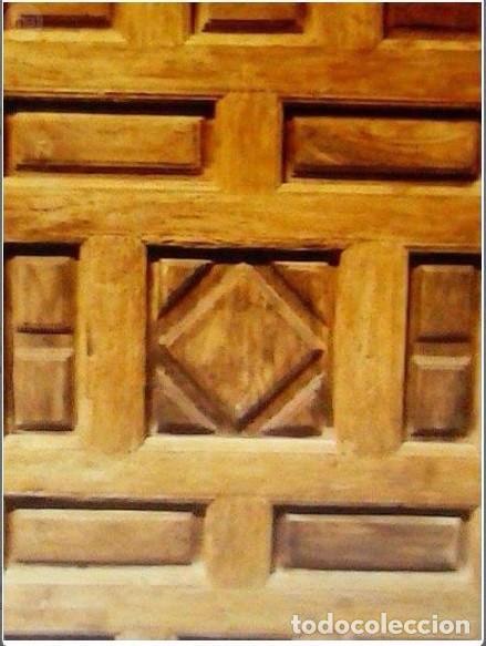 Antigüedades: PUERTA ANTIGUA DE CUARTERONES CON MARCO - Foto 2 - 89866708