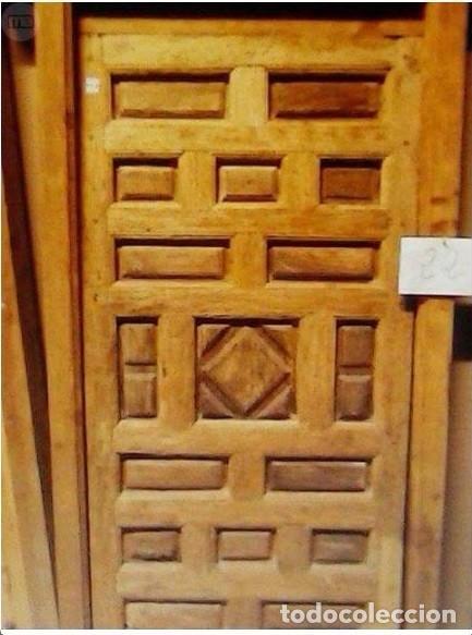 Antigüedades: PUERTA ANTIGUA DE CUARTERONES CON MARCO - Foto 4 - 89866708