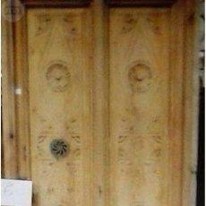 Antigüedades: PUERTA DOBLE HOJA TALLA VALENCIANA 1900. Lote 89883468