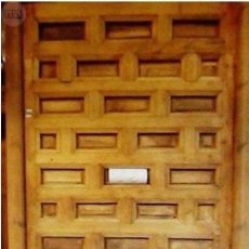Antigüedades: PUERTA CUARTERONES CASTELLANA AÑO 1900. Lote 89888688