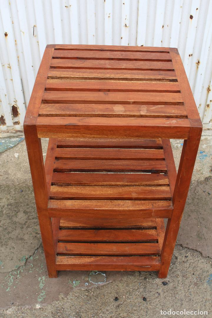 Antigüedades: mueble auxiliar en madera maciza - Foto 2 - 89909344