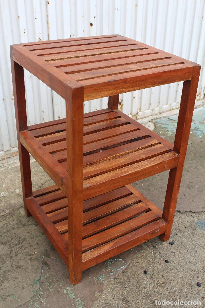 Antigüedades: mueble auxiliar en madera maciza - Foto 3 - 89909344