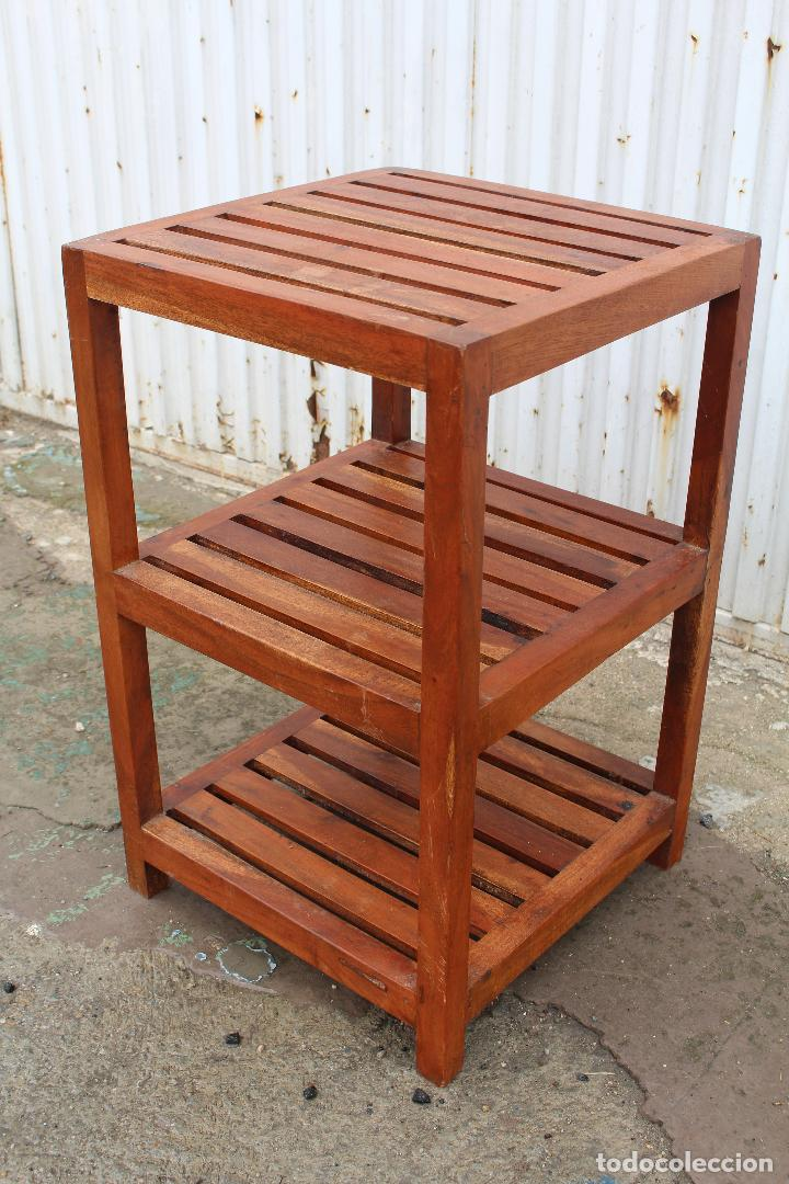 Antigüedades: mueble auxiliar en madera maciza - Foto 4 - 89909344