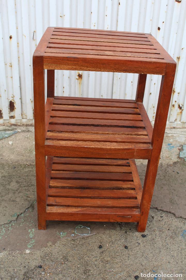 Antigüedades: mueble auxiliar en madera maciza - Foto 5 - 89909344