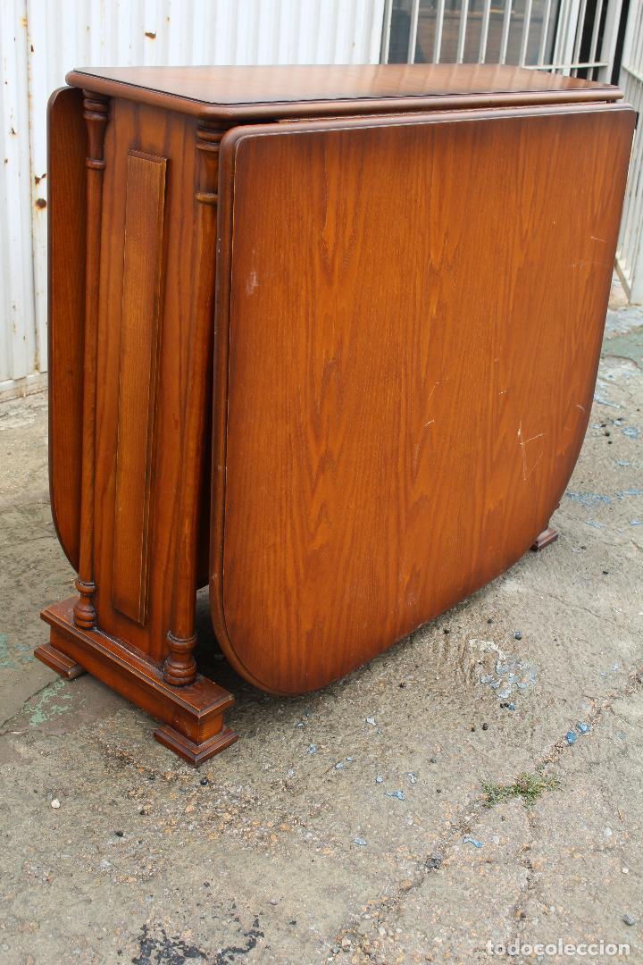 Antigüedades: mesa de alas en madera - Foto 2 - 89913844