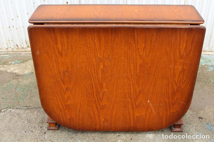 Antigüedades: mesa de alas en madera - Foto 3 - 89913844