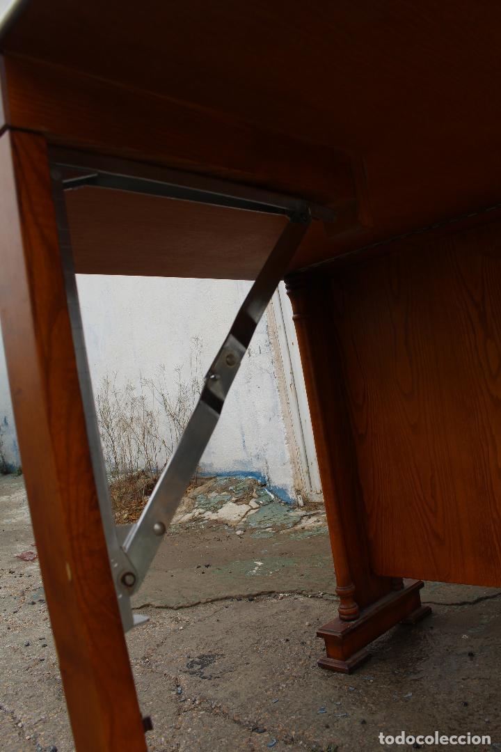 Antigüedades: mesa de alas en madera - Foto 4 - 89913844