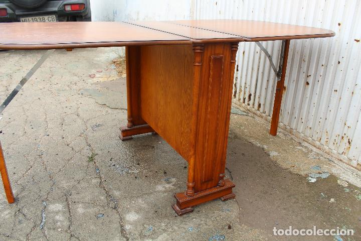 Antigüedades: mesa de alas en madera - Foto 6 - 89913844