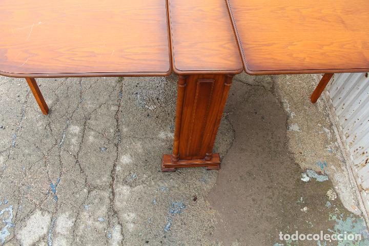 Antigüedades: mesa de alas en madera - Foto 8 - 89913844