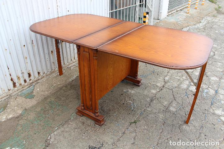 Antigüedades: mesa de alas en madera - Foto 10 - 89913844