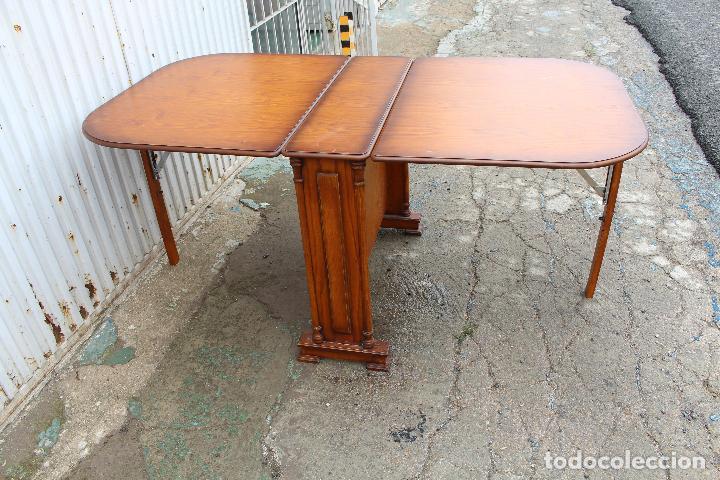 Antigüedades: mesa de alas en madera - Foto 11 - 89913844