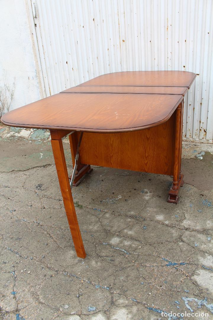 Antigüedades: mesa de alas en madera - Foto 12 - 89913844