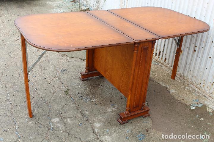 Antigüedades: mesa de alas en madera - Foto 13 - 89913844