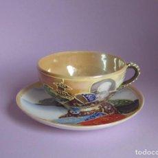 Antigüedades: TAZA Y PLATO ANTIGUO - JAPAN - PRECIOSA - TACITA CAFE - TÉ. Lote 89940672