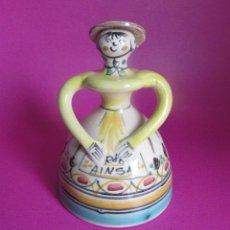 Antigüedades: AINSA BONITA CAMPANA - CERAMICA POPULAR. Lote 89945616