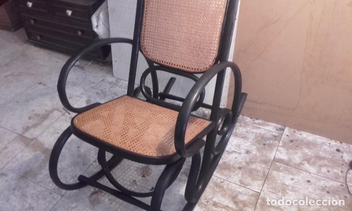 Antigüedades: PRECIOSO MECEDORA, TIPO TONET SIGLO XIX - Foto 2 - 89951828