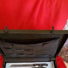 Antigüedades: ESTUCHE DE CUCHILLOS DE COCINA PARA PROFESIONAL. Lote 90032880