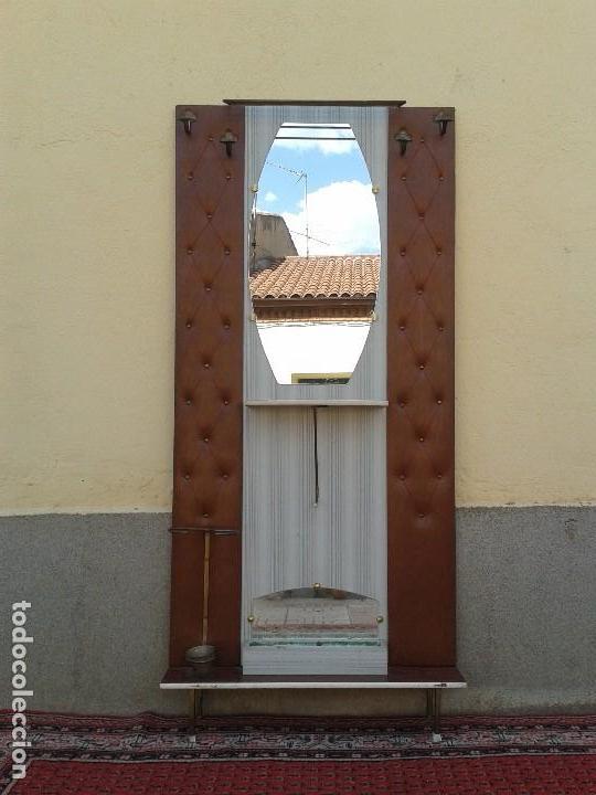 Mueble recibidor antiguo retro vintage mueble d comprar espejos antiguos en todocoleccion - Mueble perchero entrada ...