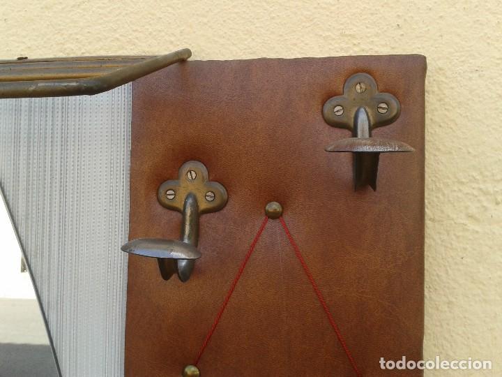 Mueble recibidor antiguo retro vintage mueble d comprar espejos antiguos en todocoleccion - Perchero recibidor antiguo ...