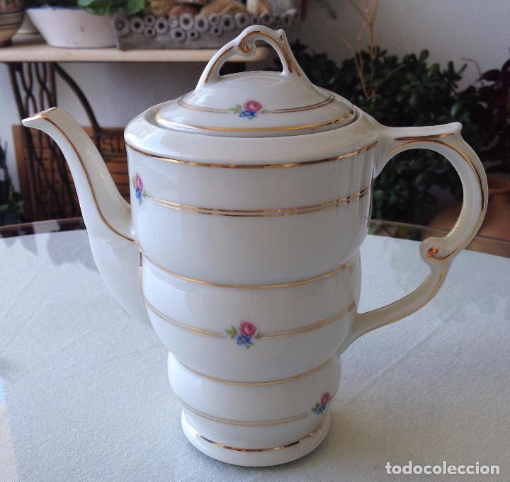 Antigüedades: Precioso y coqueto conjunto cafetera+azucarera+tacitas Santa Clara - Foto 4 - 89792236