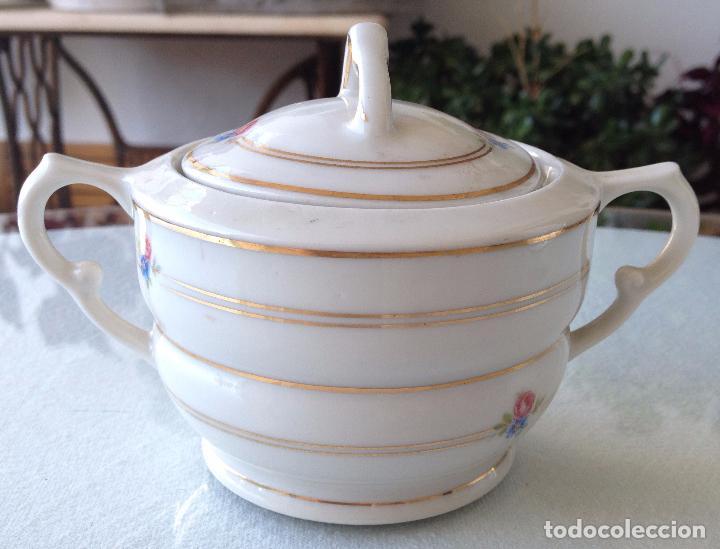 Antigüedades: Precioso y coqueto conjunto cafetera+azucarera+tacitas Santa Clara - Foto 7 - 89792236