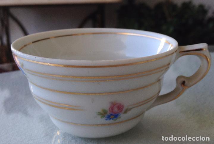 Antigüedades: Precioso y coqueto conjunto cafetera+azucarera+tacitas Santa Clara - Foto 8 - 89792236