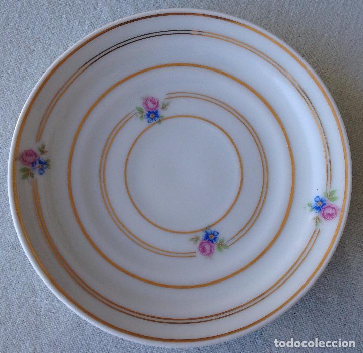 Antigüedades: Precioso y coqueto conjunto cafetera+azucarera+tacitas Santa Clara - Foto 9 - 89792236