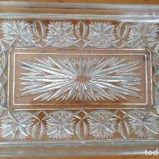 Antigüedades: LOTE VARIAS PIEZAS DE CRISTAL TALLADO MUY ANTIGUO. Lote 90111276