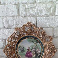 Antigüedades: PLATO DE FRAGONARD EN BRONCE. Lote 90122288