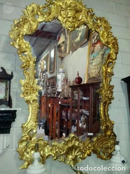 ESPEJO Y CONSOLA ESTILO LUIS XV (Antigüedades - Muebles Antiguos - Espejos Antiguos)
