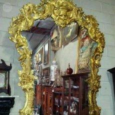 Antigüedades: ESPEJO Y CONSOLA ESTILO LUIS XV. Lote 90138872