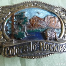 Antigüedades: HEBILLA COUNTRY COLORADO ROCKIES ORIGINAL USA. MARCADA Y NUMERADA . Lote 90173408