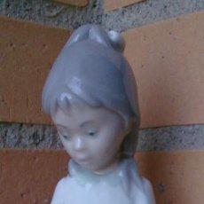 Antigüedades: FIGURA PORCELANA VINTAGE ZAPHIR LLADRO NIÑA CON PERRO. Lote 90177252
