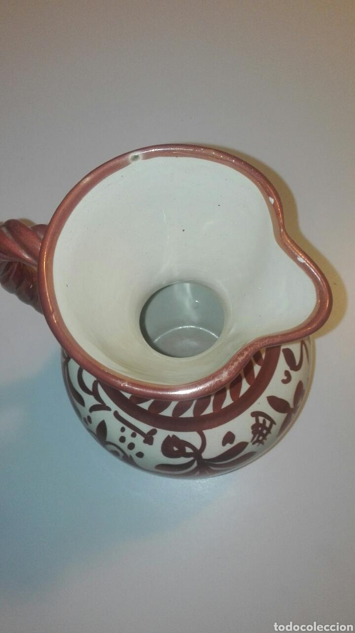 Antigüedades: jarra ceramica manises con reflejo firmada gimeno rios - Foto 2 - 90224227
