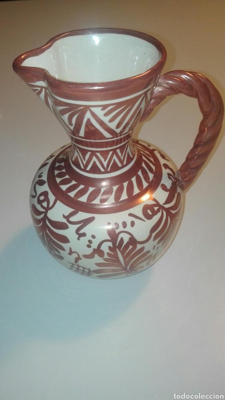 Antigüedades: jarra ceramica manises con reflejo firmada gimeno rios - Foto 3 - 90224227