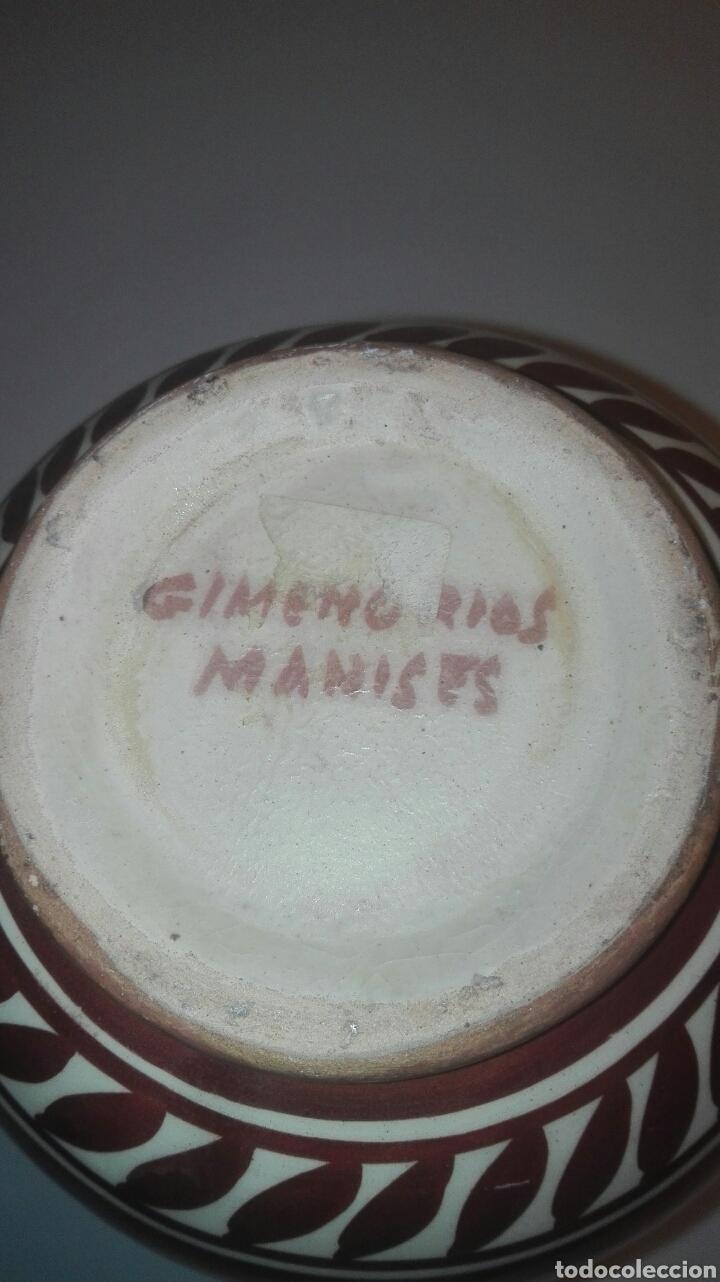 Antigüedades: jarra ceramica manises con reflejo firmada gimeno rios - Foto 5 - 90224227