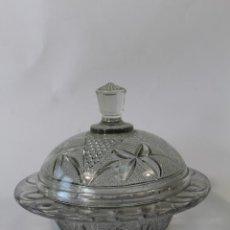 Antigüedades: AZUCARERO EN CRISTAL DE SANTA LUCIA-CARTAGENA. Lote 90231260