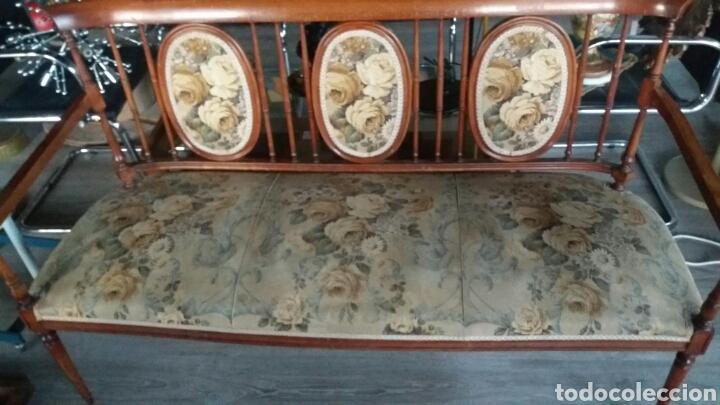 Antigüedades: Antiguo sofa banco - Foto 2 - 90234242