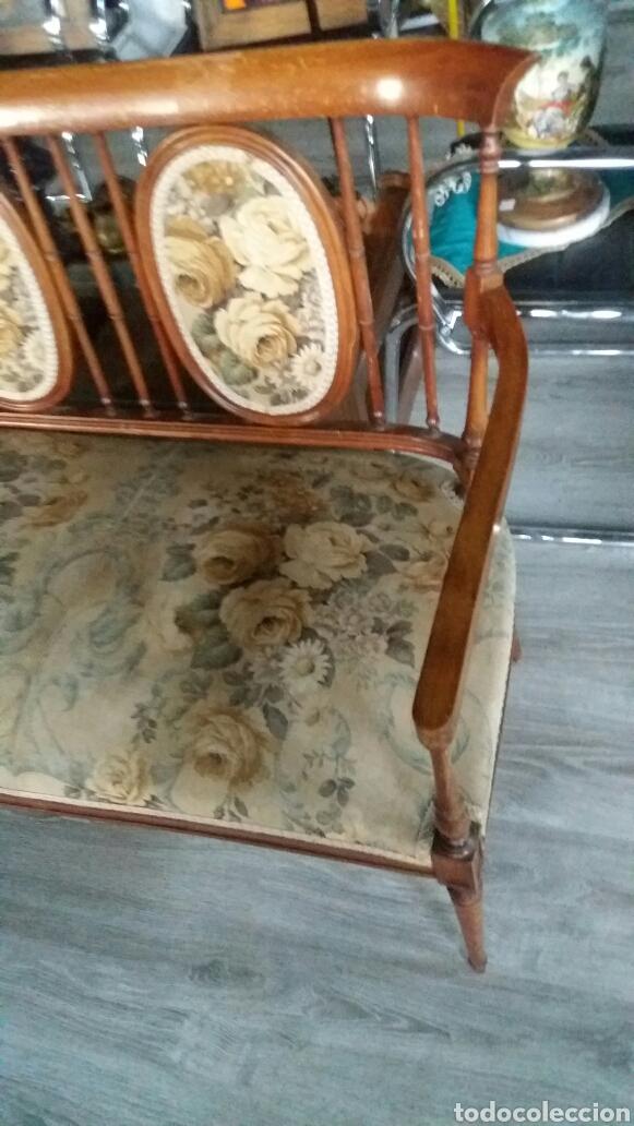 Antigüedades: Antiguo sofa banco - Foto 5 - 90234242