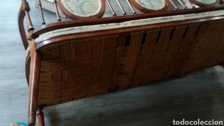 Antigüedades: Antiguo sofa banco - Foto 8 - 90234242