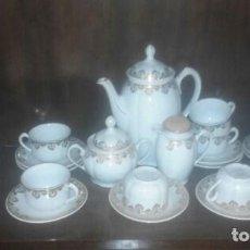 Antigüedades: JUEGO DE TE O CAFE SANTA CLARA. Lote 90235248