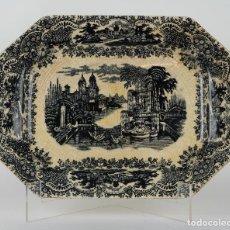 Antigüedades: BANDEJA EN CERÁMICA PICKMAN LA CARTUJA DE SEVILLA PRINCIPIOS SIGLO XX. Lote 90246596