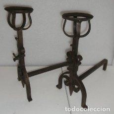 Antigüedades: PAREJA DE MORILLOS PARA CHIMENEA.. Lote 90250072