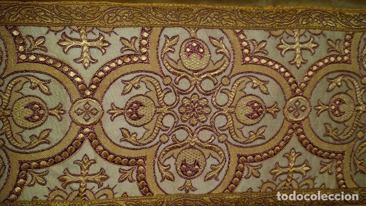 Antigüedades: Antiguo tapete con bordado - Foto 7 - 90267376