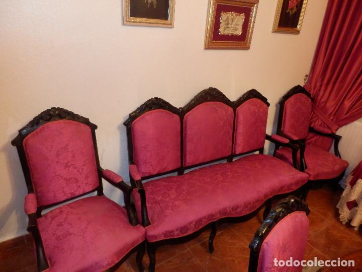 Antigüedades: conjunto de silleria antigua 10 piezas silla comedor vintage - Foto 2 - 90298044