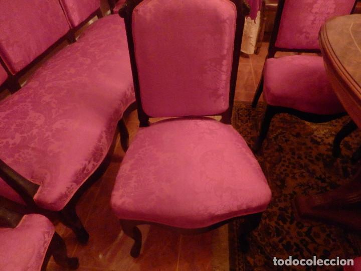Antigüedades: conjunto de silleria antigua 10 piezas silla comedor vintage - Foto 8 - 90298044
