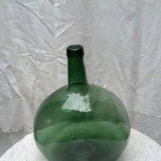 Antigüedades: DAMAJUANA O GARRAFA, VIDRIERA ESPAÑOLA, PATENTE 92790, BARCELONA.. Lote 90382580