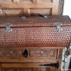 Antigüedades: BOLSO DE MIMBRE DE PRINCIPIO DE 1900. Lote 90442082