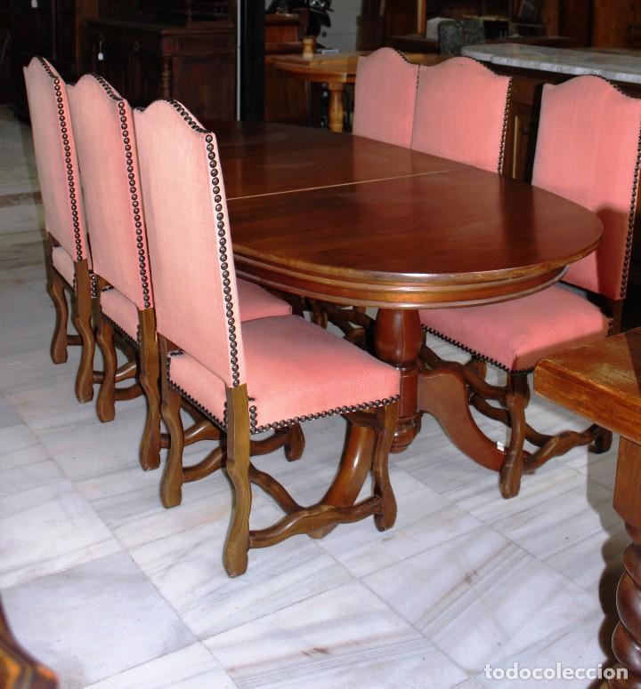 mesa de comedor ovalada. ref. 3403 - Comprar Mesas Antiguas en ...