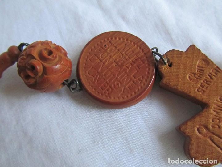 Antigüedades: Gran rosario de madera de la Virgen de Lourdes - Foto 8 - 90461294